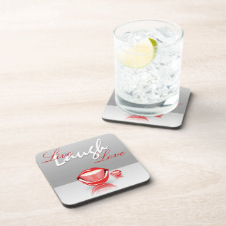 Big Mouth Live Laugh Love Set of 6 Cork Coasters