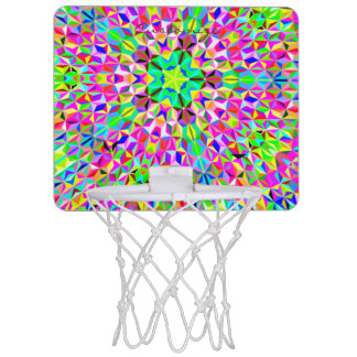 big Multi-color 3-d polygon pattern Mini Basketball Hoop