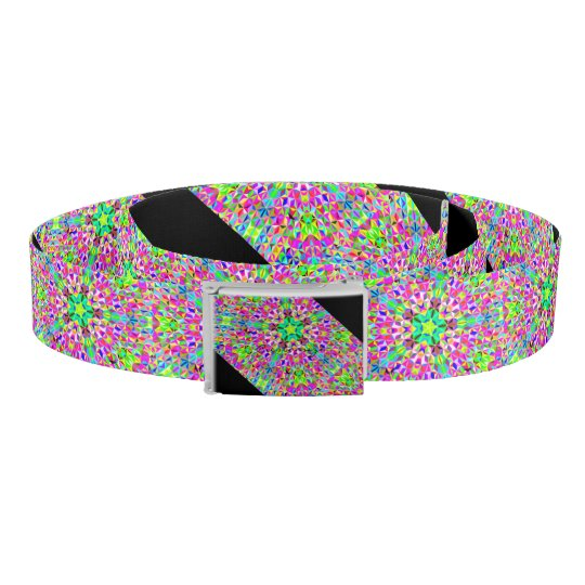 big Multi-colour 3-d polygon pattern Belt
