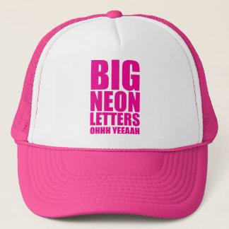 Big Neon Letters Trucker Hat