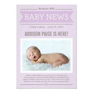 Big News Birth Announcement | Baby Girl