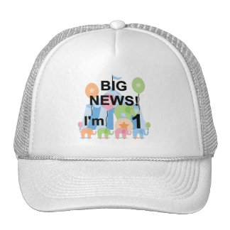Big News Circus 1st Birthday T-shirts and Gifts Cap
