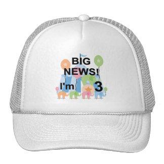 Big News Circus 3rd Birthday Tshirts and Gifts Cap