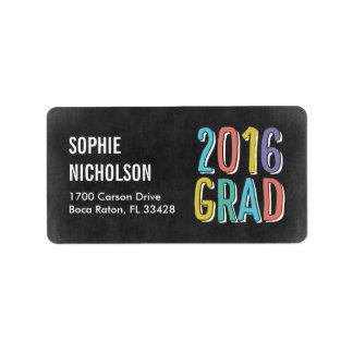 Big News Graduation Address Labels - Chalk