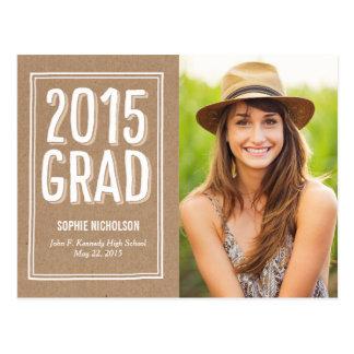 Big News Graduation Announcement Craft Postcard