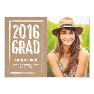 Big News Graduation Announcement Invitation Kraft