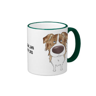 Big Nose Australian Shepherd Mug