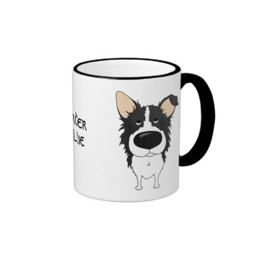 Big Nose Border Collie Coffee Mug