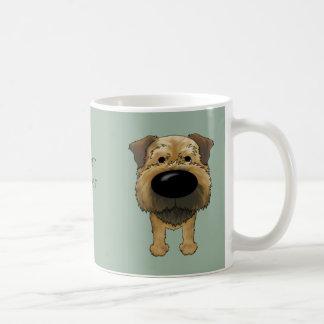 Big Nose Border Terrier Basic White Mug