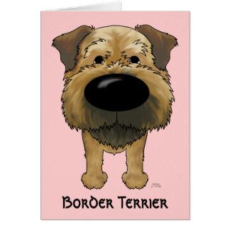 Big Nose Border Terrier Card