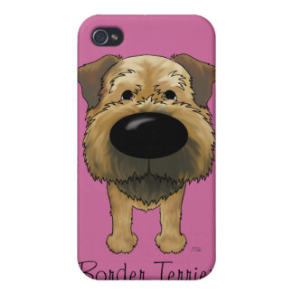 Big Nose Border Terrier Cover For iPhone 4