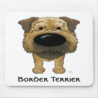 Big Nose Border Terrier Mouse Pads
