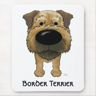 Big Nose Border Terrier Mouse Pad