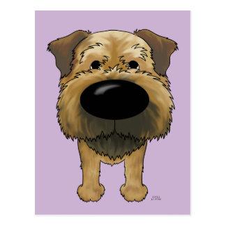 Big Nose Border Terrier Postcard