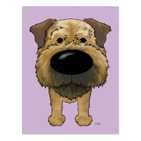 Big Nose Border Terrier Postcard