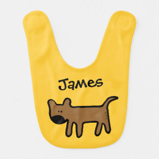big nose brown dog - add name bib