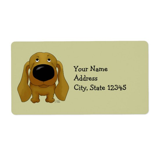 Big Nose Dachshund Shipping Label