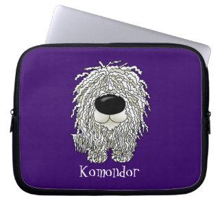 Big Nose Komondor Laptop Computer Sleeve