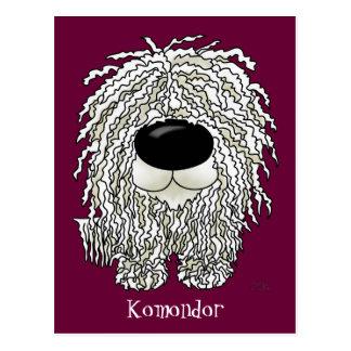 Big Nose Komondor Postcard