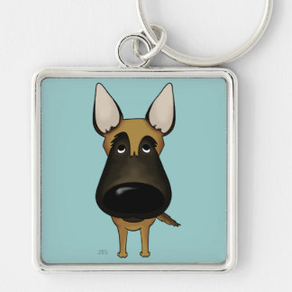 Big Nose Malinois Keychain