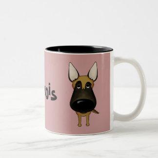 Big Nose Malinois Two-Tone Mug