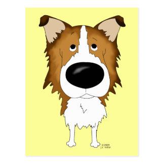 Big Nose Rough Collie Postcard