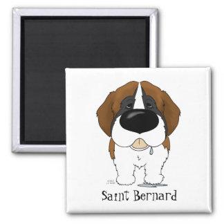 Big Nose Saint Bernard Square Magnet