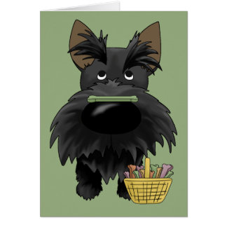 Big Nose Scottie Easter Greeting Card