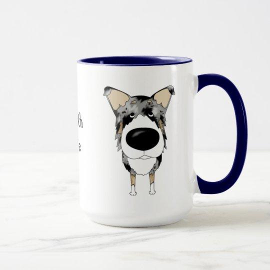 Big Nose Smooth Collie Mug