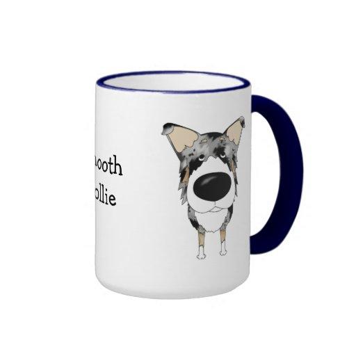 Big Nose Smooth Collie Ringer Mug