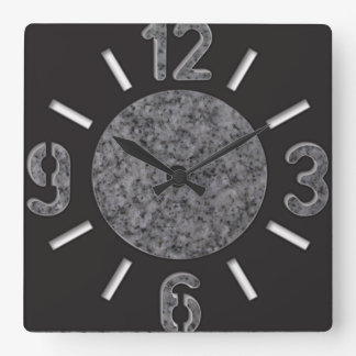 Big Numbers Marble Wall Clock