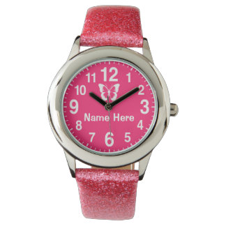 Big Numbers Personalized Girls Watches with NAME
