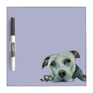 Big Ol' Head - Pit Bull Dog Watercolor Painting Dry Erase Board