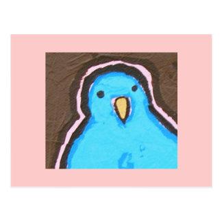 Big old bluebird postcard