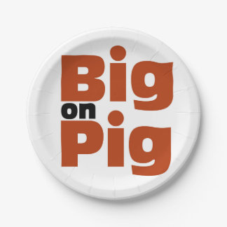 Big on Pig 7 Inch Paper Plate