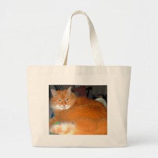 Big Orange Cat Tote Bag