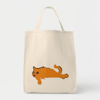 Big Orange Cat Grocery Tote Bag