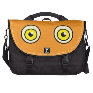 Big orange eyes bag commuter bag