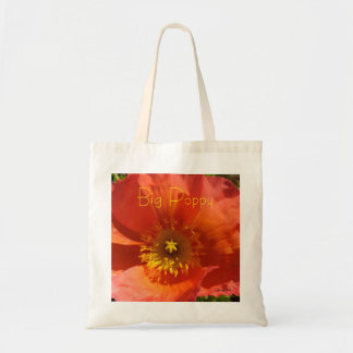 Big Orange Poppy Tote Bag
