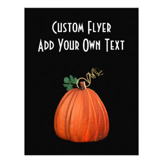 Big Orange Whimsical Pumpkin 21.5 Cm X 28 Cm Flyer