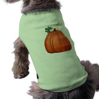 Big Orange Whimsical Pumpkin Doggie T Shirt