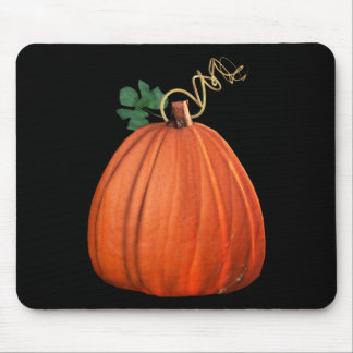 Big Orange Whimsical Pumpkin Mouse Pad
