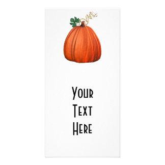 Big Orange Whimsical Pumpkin Photo Greeting Card