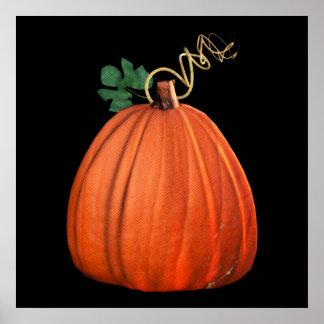 Big Orange Whimsical Pumpkin Poster