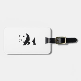 Big panda bear luggage tag