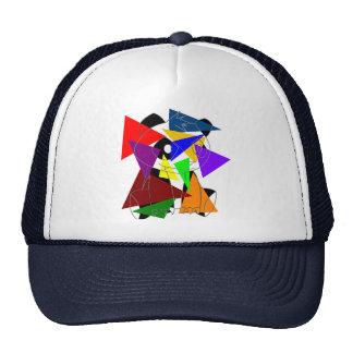 Big Panda Random Triangles Hat