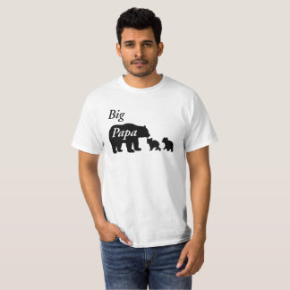 Big Papa Bear Family by Mini Brothers T-Shirt