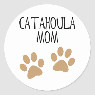 Big Paws Catahoula Mom Classic Round Sticker