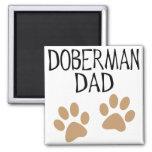 Big Paws Doberman Dad Square Magnet