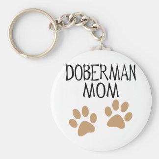Big Paws Doberman Mom Key Ring